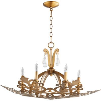 Charlton 6-Light Candle-Style Chandelier Finish: Aged Brass