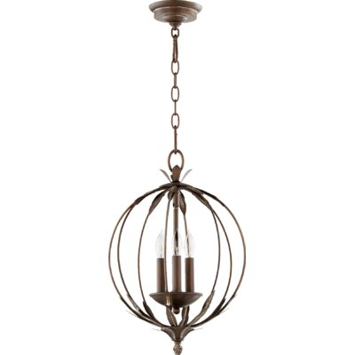 Flora 3-Light Globe Pendant Finish: Vintage Copper