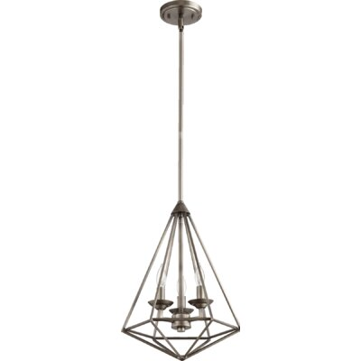 Bennett 3-Light Foyer Pendant Finish: Antique Silver