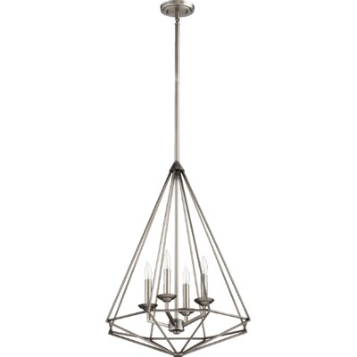 Bennett 4-Light Foyer Pendant Finish: Antique Silver