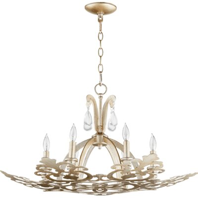 Charlton 6-Light Candle-Style Chandelier Finish: Aged Silver Leaf