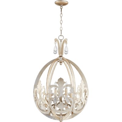 Charlton 6-Light Foyer Pendant Finish: Aged Silver Leaf