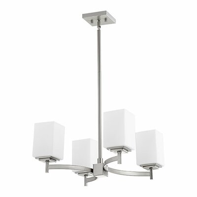Delta 4-Light Shaded Chandelier Finish: Satin Nickel