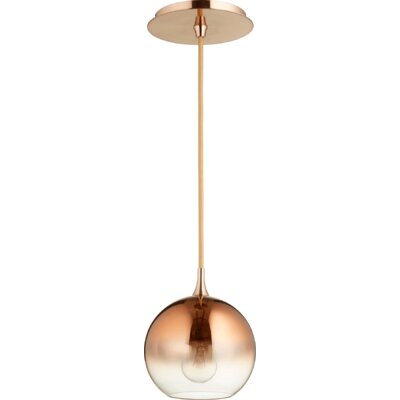 Considine 1-Light Globe Pendant Finish: Satin Copper/Copper Ombre