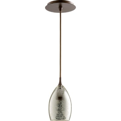 1-Light Mini Pendant Finish: Oiled Bronze/Mercury