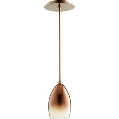 1-Light Mini Pendant Finish: Satin Copper/Copper Ombre