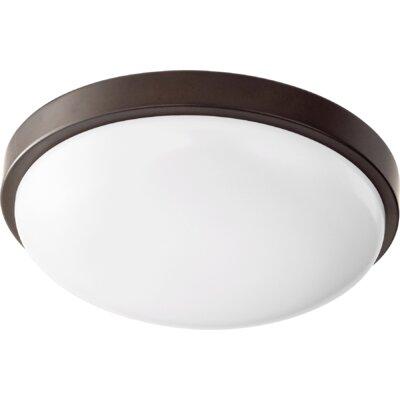 1-Light Flush Mount Size: 3.25 H x 11.5 W x 11.5 D