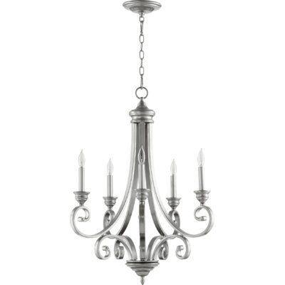 Bryant 5-Light Candle-Style Chandelier Finish: Classic Nickel