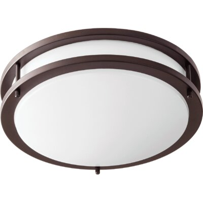1-Light Flush Mount Size: 3.5 H x 12 W x 12 D