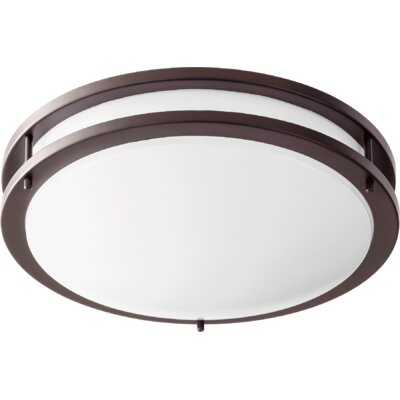 1-Light Flush Mount Size: 4 H x 14.5 W x 14.5 D