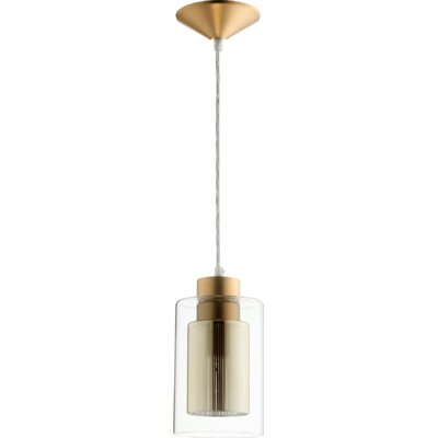 1-Light Mini Pendant Finish: Aged Brass/Gold