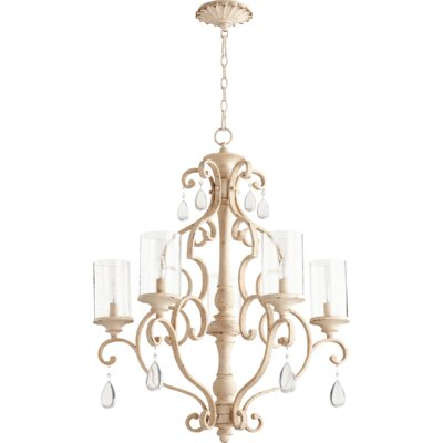 San Miguel 5-Light Candle-Style Chandelier Finish: Persian White