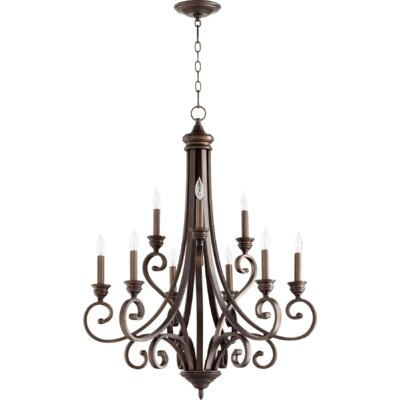 Bryant 9-Light Candle-Style Chandelier Finish: Oiled Bronze