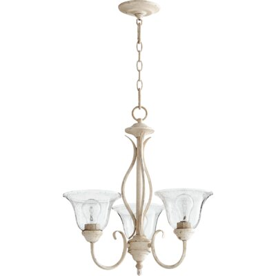 Spencer 3-Light Shaded Chandelier Finish: Persian White