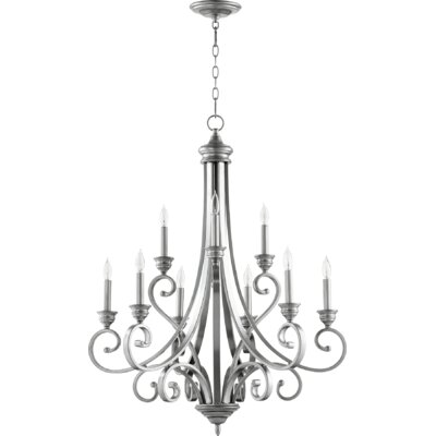 Bryant 9-Light Candle-Style Chandelier Finish: Classic Nickel