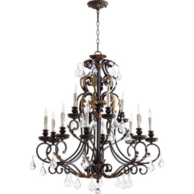 Ancram 12-Light Candle-Style Chandelier