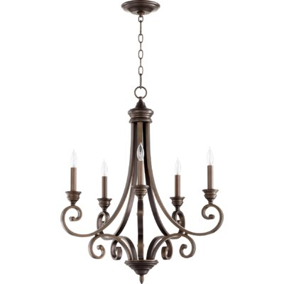 Bryant 5-Light Candle-Style Chandelier Finish: Oiled Bronze