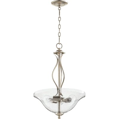 Spencer 3-Light Inverted Bowl Pendant Finish: Aged Silver Leaf
