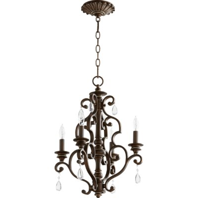 San Miguel 4-Light Candle-Style Chandelier Finish: Vintage Copper