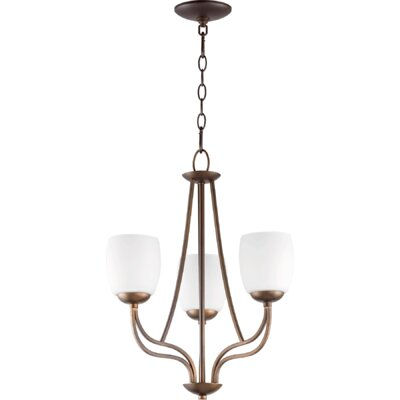 Mcguire 3-Light Shaded Chandelier