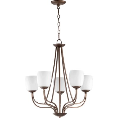 Mcguire 5-Light Shaded Chandelier