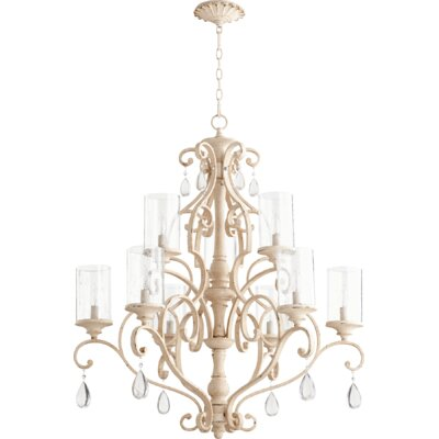 San Miguel 9-Light Candle-Style Chandelier Finish: Persian White