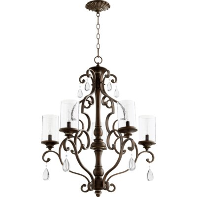 San Miguel 5-Light Candle-Style Chandelier Finish: Vintage Copper