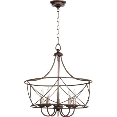 Cilia 5-Light Foyer Pendant Finish: Oiled Bronze