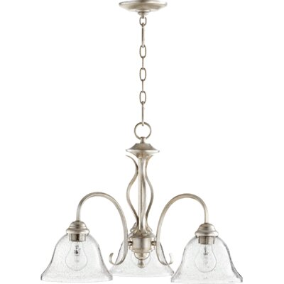 Spencer 3-Light Shaded Chandelier Finish: Aged Silver Leaf