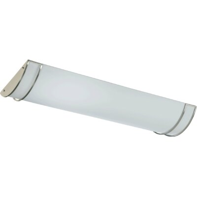 4-Light Flush Mount Size: 4.5 H x 48.25 W x 16 D