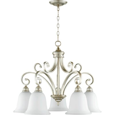Bryant 5-Light Shaded Chandelier Finish: Aged Silver Leaf