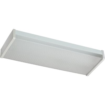 2-Light Flush Mount Size: 2.75 H x 24 W x 9 D