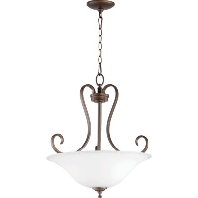 Celesta 3-Light Inverted Bowl Pendant