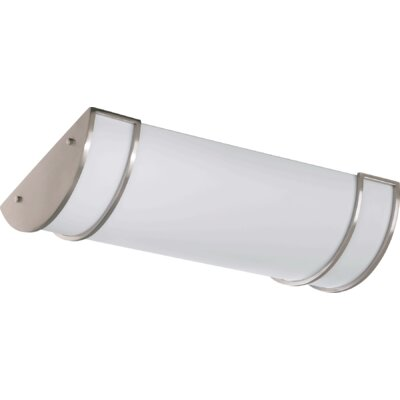 3-Light Flush Mount Size: 4.5 H x 24.25 W x 11.75 D