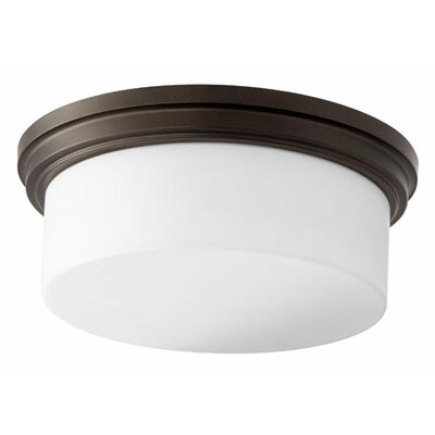 Heyworth Transitional 3-Light Flush Mount Finish: Oiled Bronze