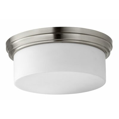 Heyworth Transitional 3-Light Flush Mount Finish: Satin Nickel
