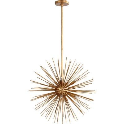 Electra 8-Light Sputnik Chandelier Finish: Gold Leaf