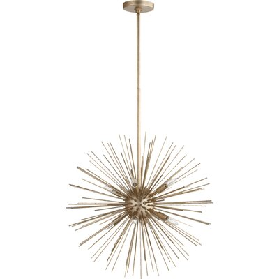 Electra 8-Light Sputnik Chandelier Finish: Aged Silver Leaf