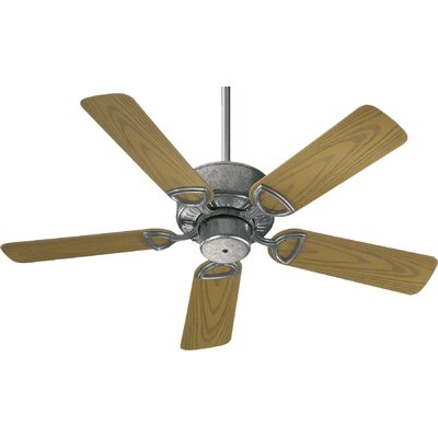 42 Estate 5-Blade Patio Ceiling Fan Finish: Galvanized with Medium Oak Blades
