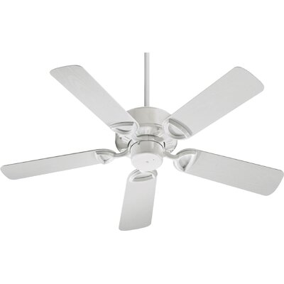 42 Estate 5-Blade Patio Ceiling Fan Finish: White