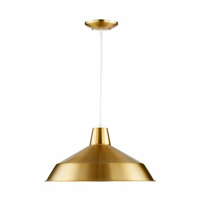 Conover 1-Light Mini Pendant Finish: Aged Brass