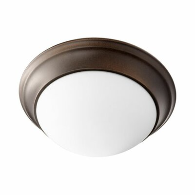 Flush Mount Size: 5.5 H x 14 W, Finish: Oiled Bronze