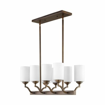 Atwood 8-Light Kitchen Island Pendant Shade Color: White
