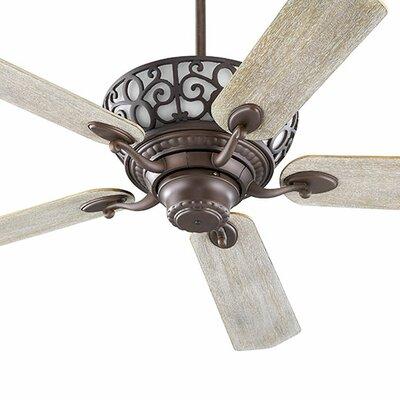 52 Cimarron 5-Blade Ceiling Fan Finish: Oiled Bronze with Walnut/Weathered Oak Blades