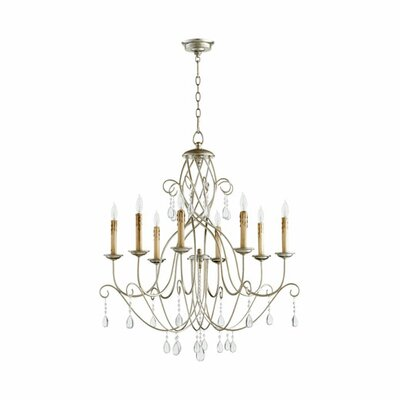 Cilia 8-Light Candle-Style Chandelier Finish: Aged Silver Leaf