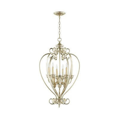 Bryant 9-Light Foyer Pendant Finish: Aged Silver Leaf