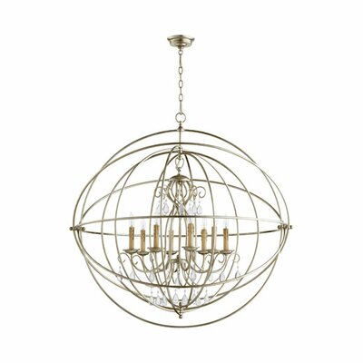 Cilia 8-Light Globe Pendant Finish: Aged Silver Leaf