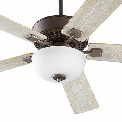 52 Rothman 5-Blade Ceiling Fan Finish: Oiled Bronze with Walnut/Weathered Oak Blades