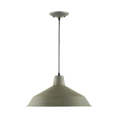 Studio 1-Light Mini Pendant Finish: Zinc