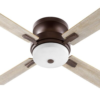 52 Davenport 4-Blade Ceiling Fan Finish: Oiled Bronze with Walnut/Weathered Oak Blades